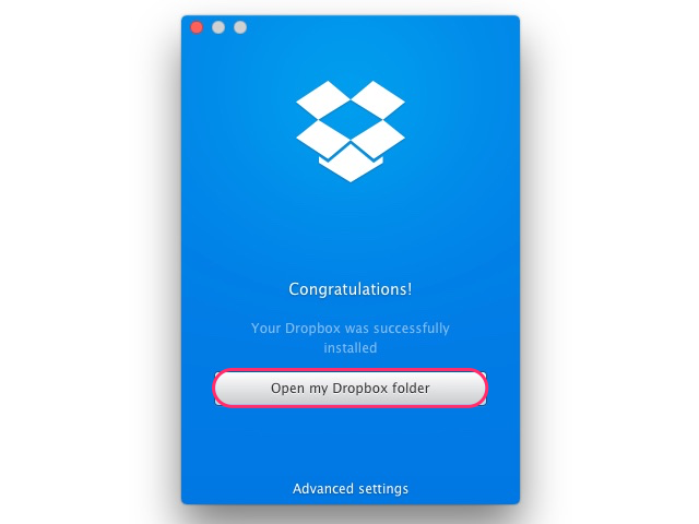 Syncing the Dropbox folder