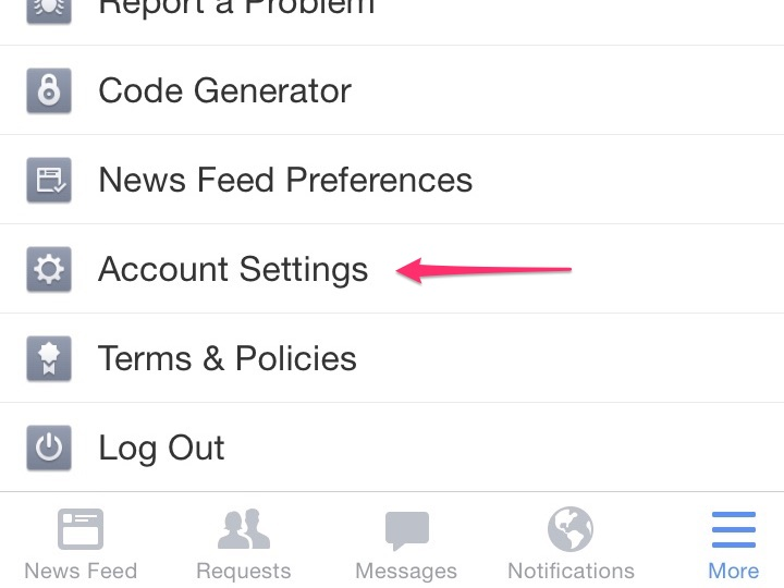Access settings on your mobile device.