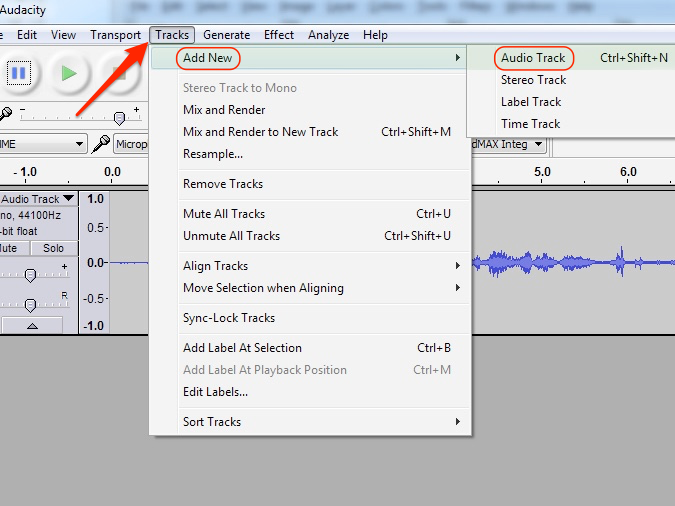 The first step is to duplicate your recorded vocal track.