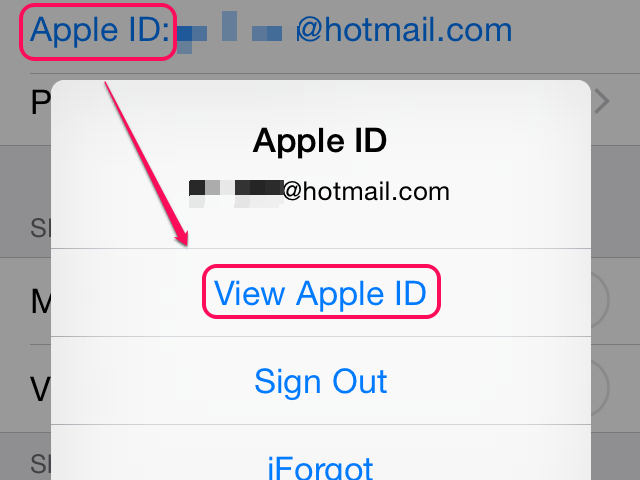If you aren't signed in already, enter your password and tap Sign In first.