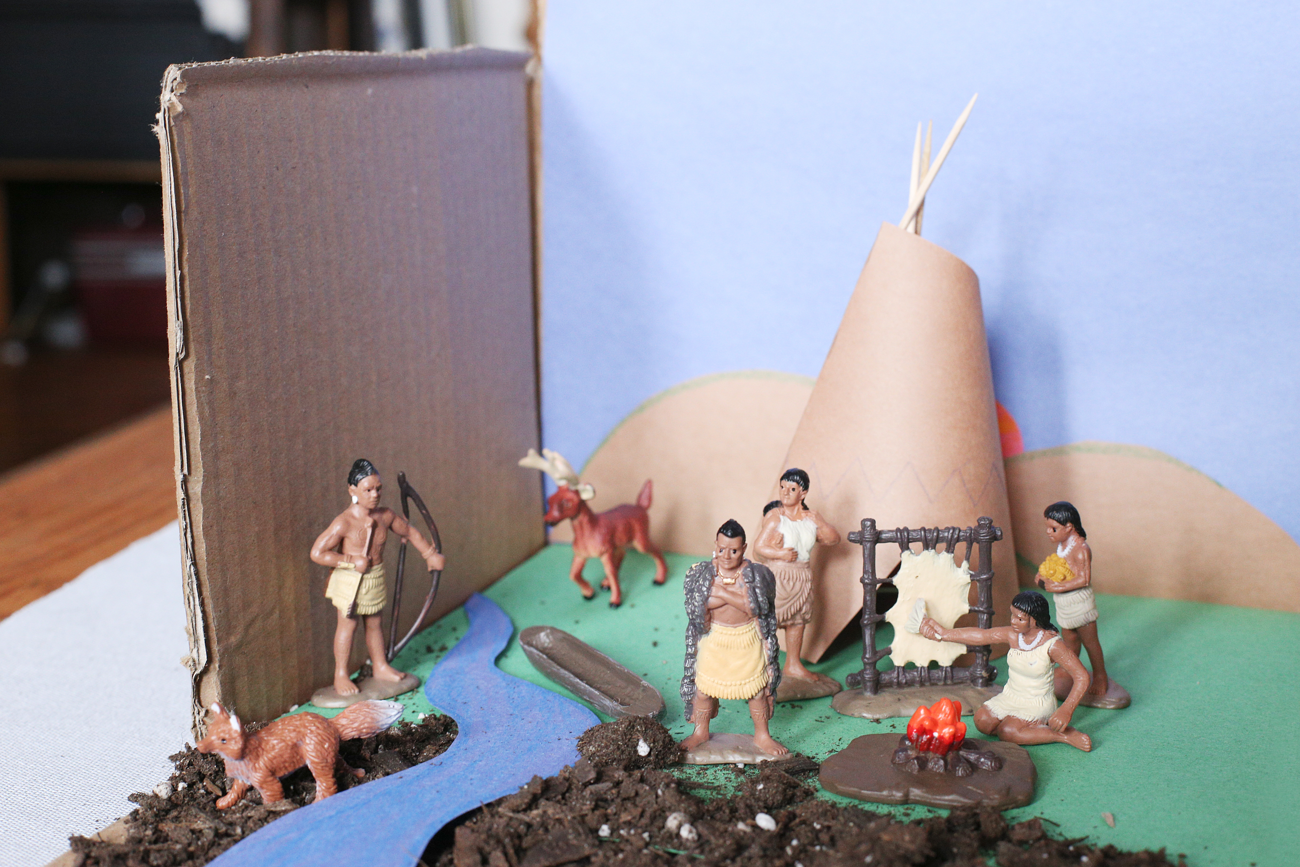 How to create an indian tribe diorama sciencing for How to build a model pueblo house