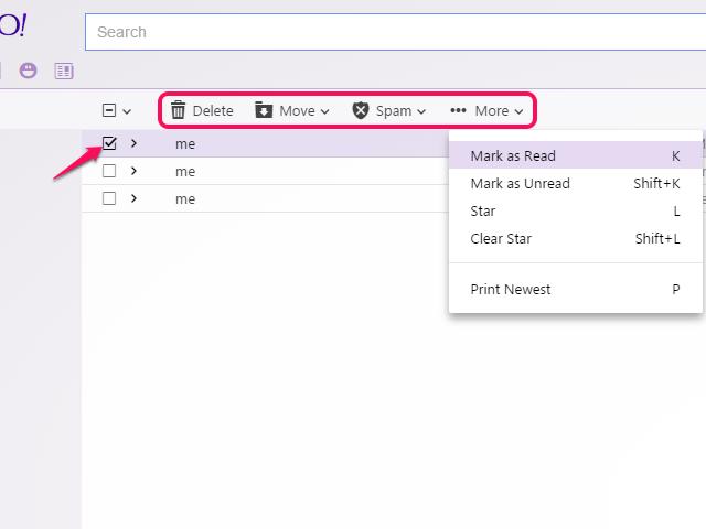 Inbox options