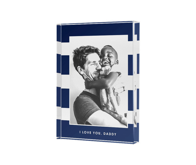 Tinyprints Photo Acrylic Block is a unique photo gift for dad