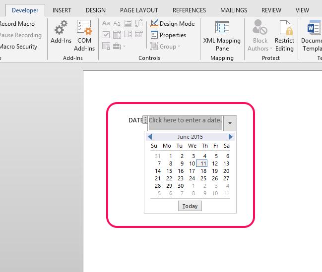The Inserted Calendar