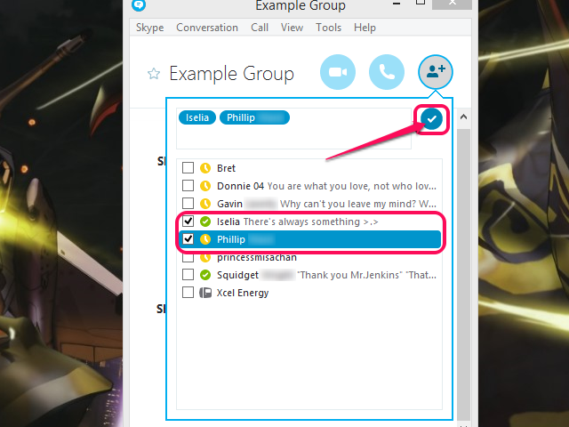 Add people to your group.
