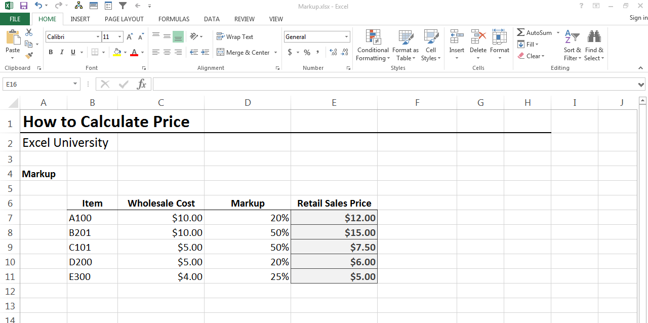 how to calculate markup in excel auto electrical wiring diagram