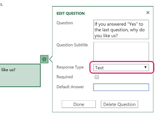 The  Text Response Type.