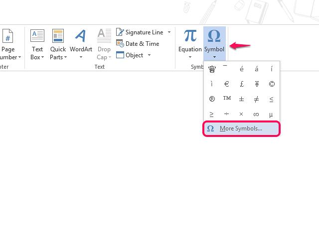 Select More Symbols from the Symbol menu.
