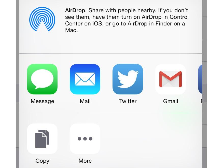 Choose your sharing method.