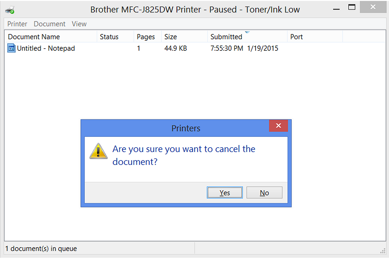 how to pause cancel and resume printing documents