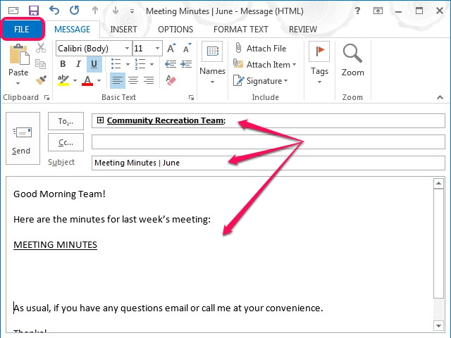 Click Attach File to add a file to the email template.