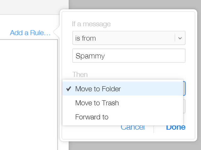 Select Move to Folder.
