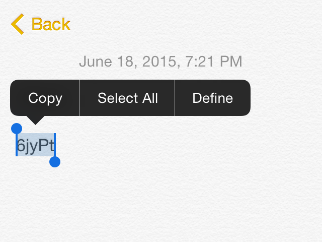 Selection options in Notes