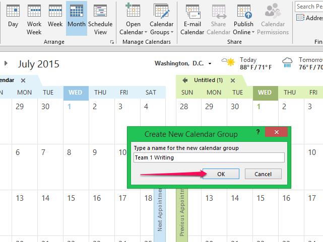 Name the New Calendar.
