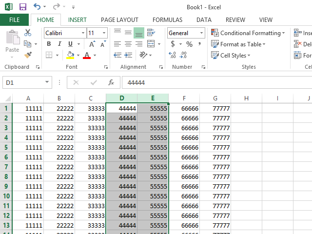 how to move columns in excel table