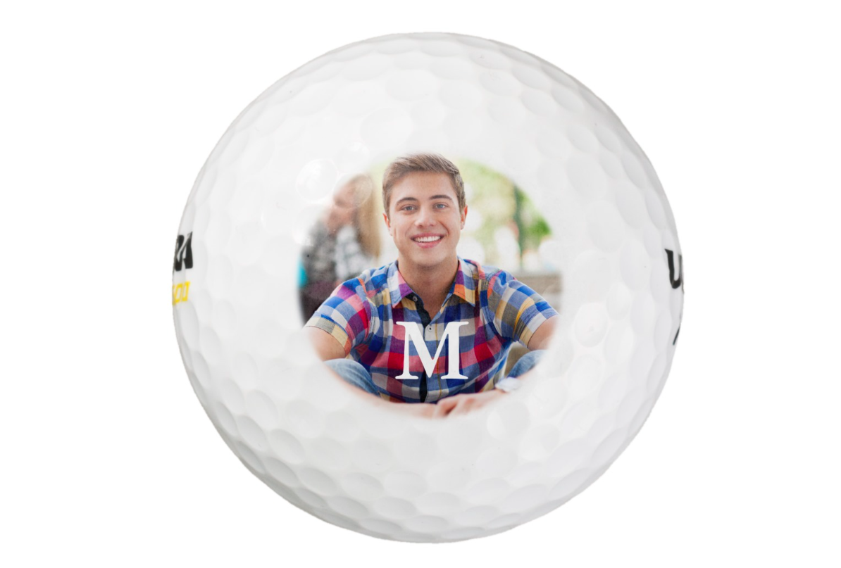 Personalized photo golf balls from Zazzle are a unique photo gift for dad.