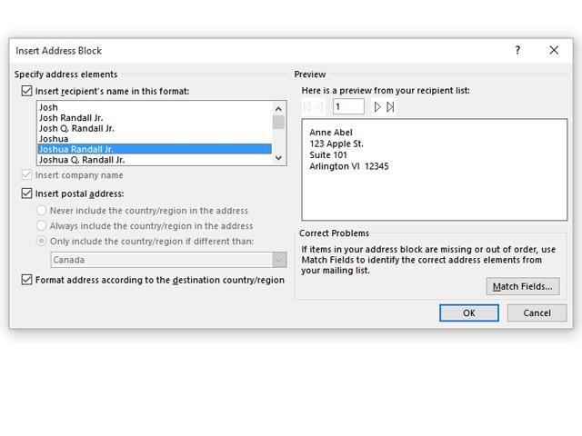 Adding an Address Block