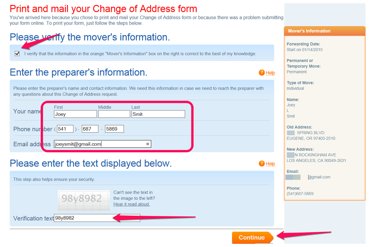 Usps Change Of Address Form Pdf Pictures to Pin – Print Change of Address Form