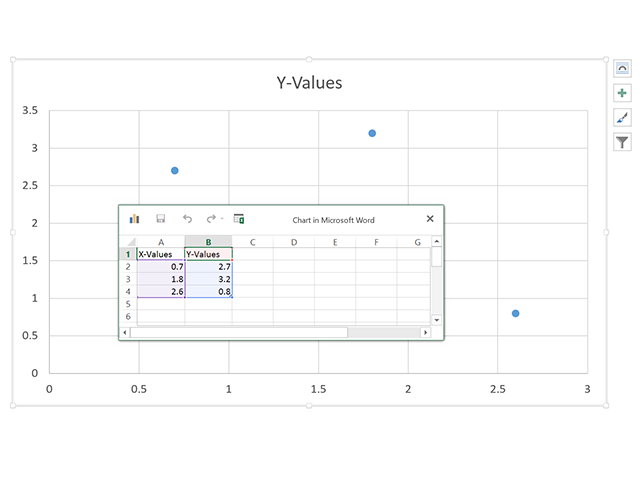 The default XY (Scatter) chart.