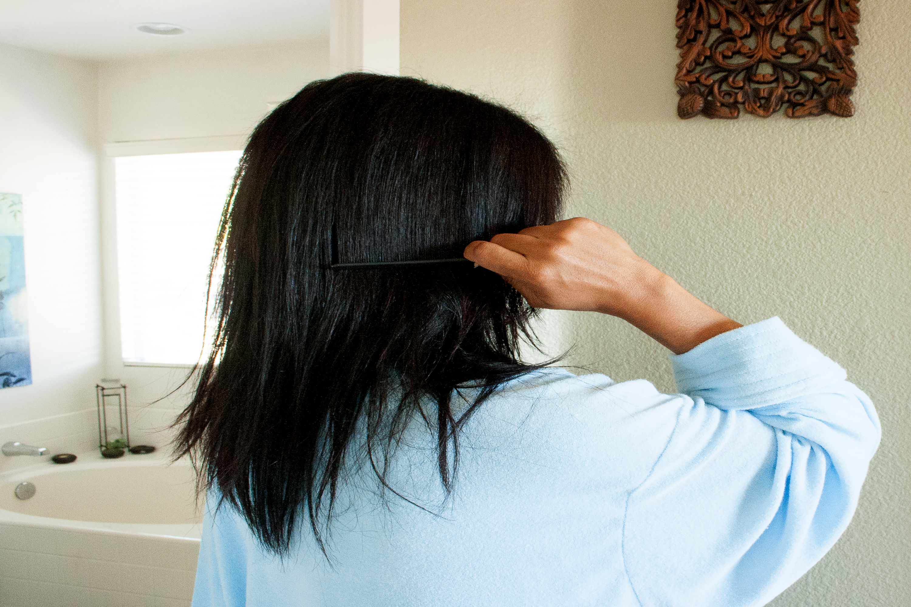 how to grow out relaxed hair without cutting it