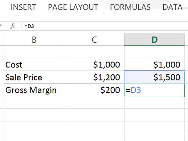 All formulas begin with an equal sign in Excel.