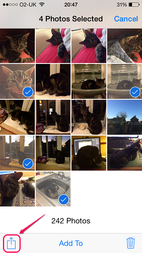 bHow to Send Multiple Photos on an iPhone