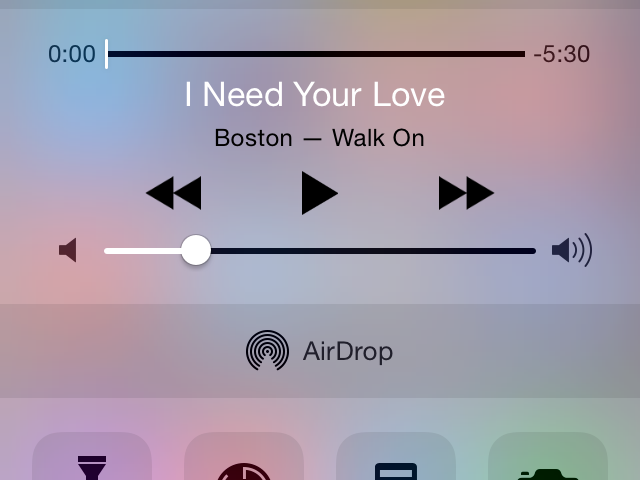Apple introduced the Control Center in iOS 7.