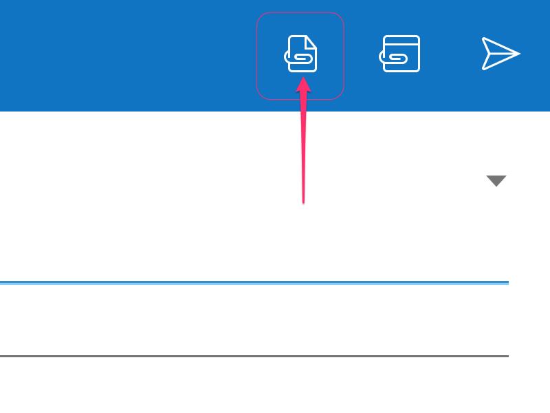 Tap the Attachment icon