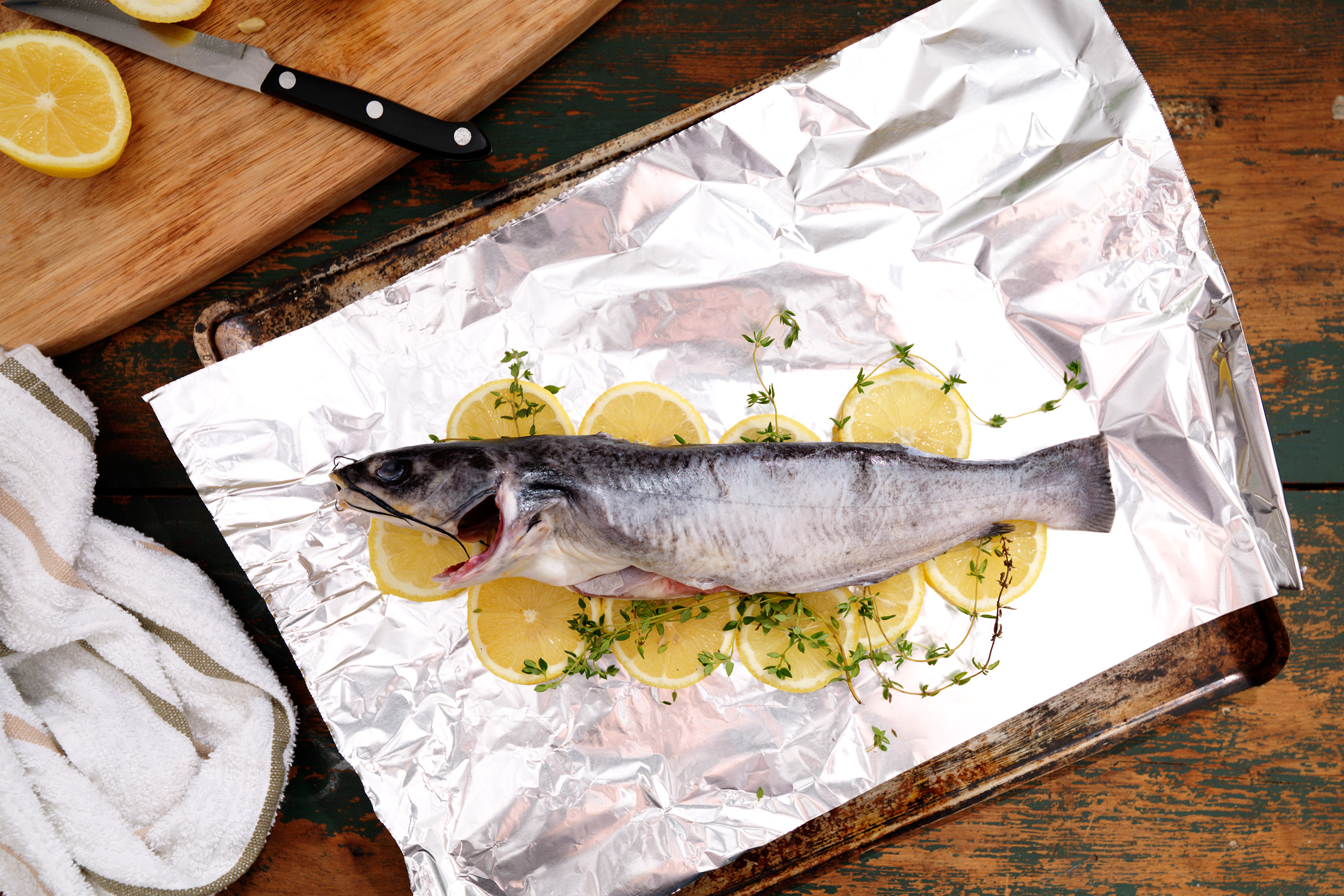 How to cook whole catfish in the oven livestrong com for How to cook whole fish in the oven