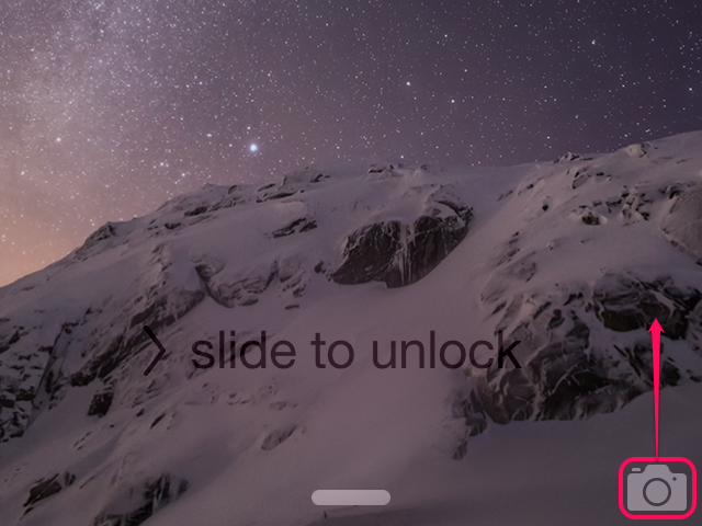 Swipe the camera icon to turn off the light.