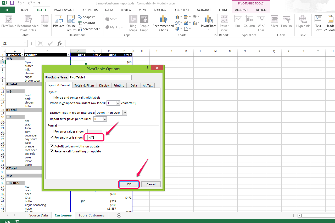 how to leave excel cell blank