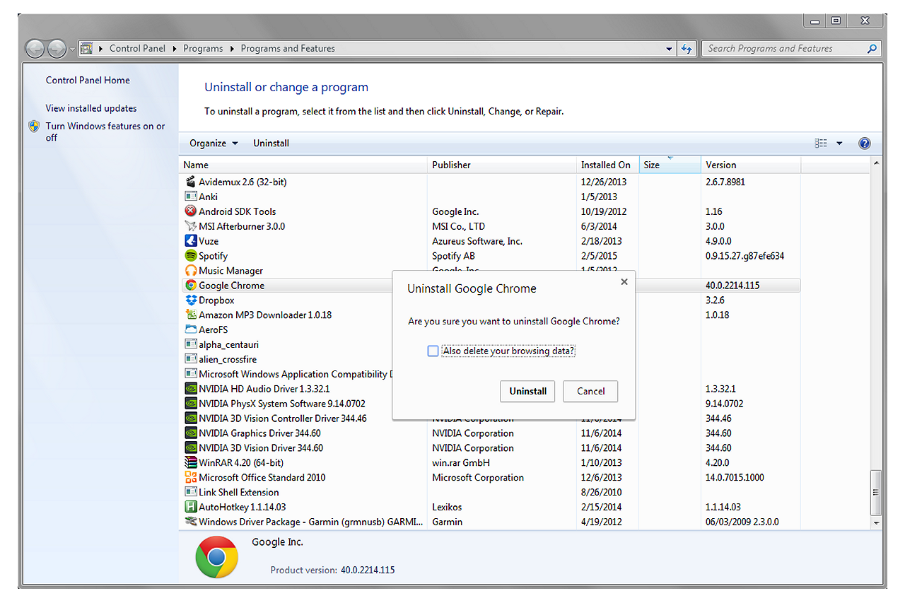 bHow to Uninstall Google Chrome Manually in Windows 7