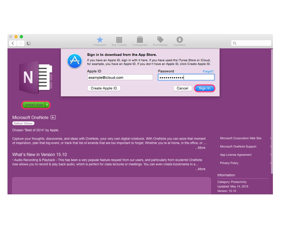 Download software from the Mac App Store.