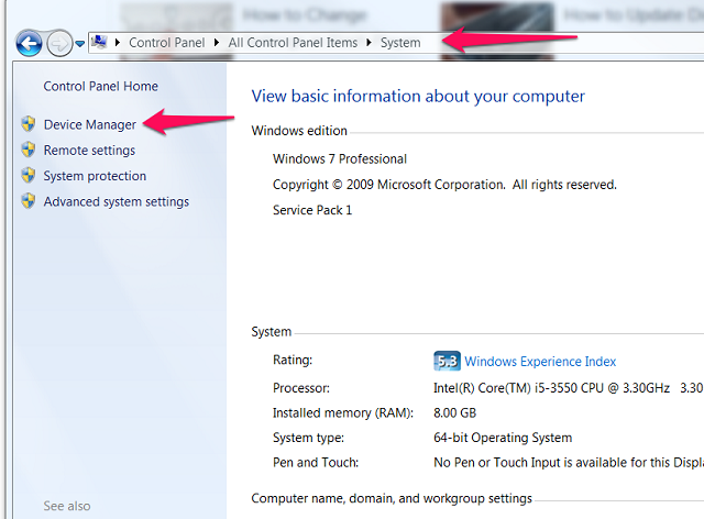 Select Device Manager.