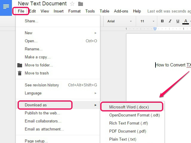 Convert and download the file in the DOCX format.