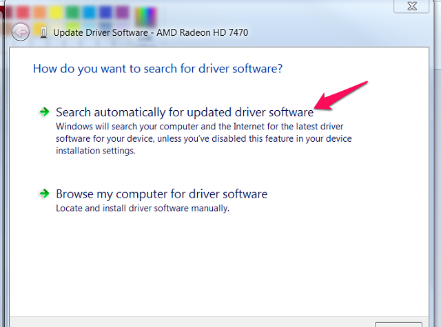 Your driver will update automatically with this option.