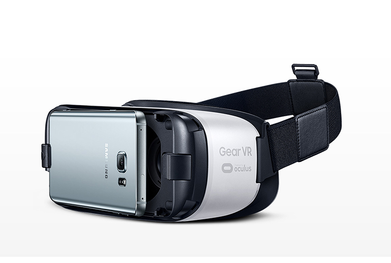 Samsung Gear VR headset has a hardware connection to your smartphone.