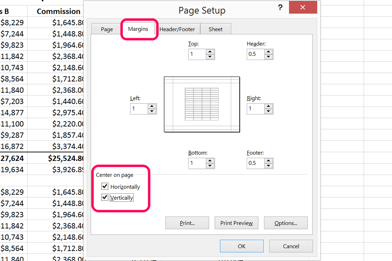 How to Center Worksheets Both Horizontally & Vertically in Excel ...