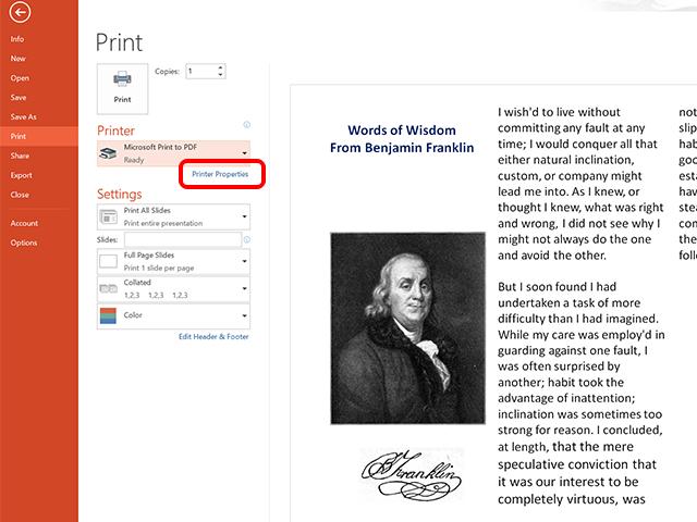 Click Printer Preferences to set up duplex printing.