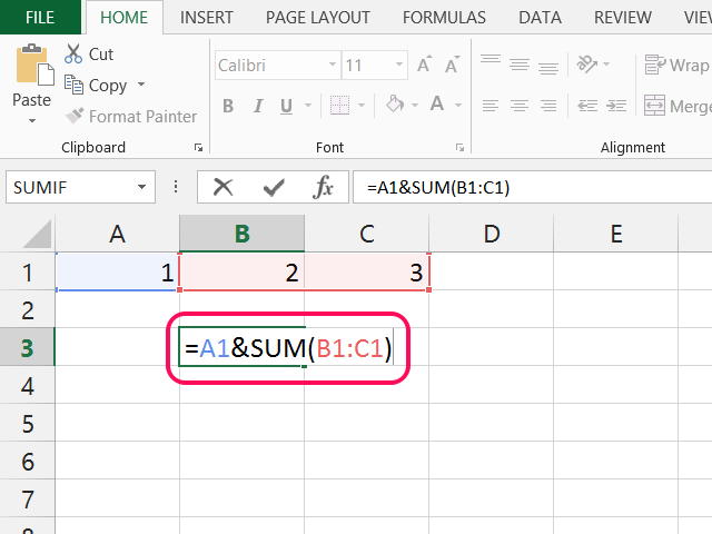 how to multiply and add in one formula in excel