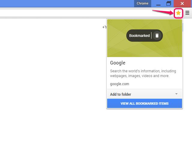 Chrome bookmarking