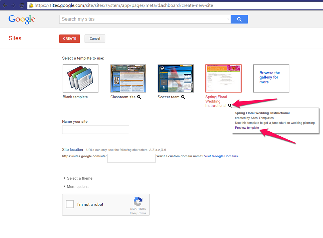 how to set up a free website using google sites