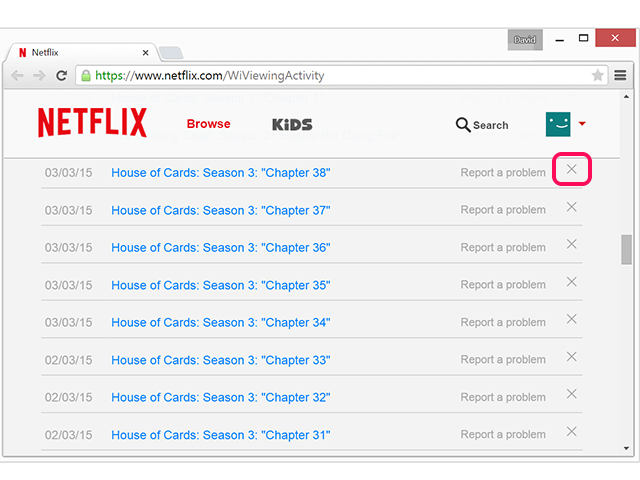 bHow to Hide Netflix Viewing Habits