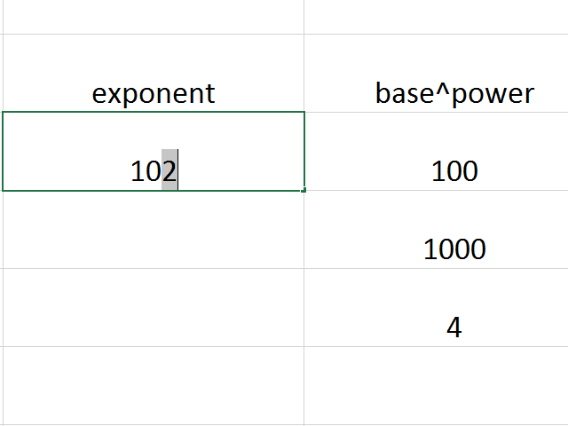 Highlight the exponent.