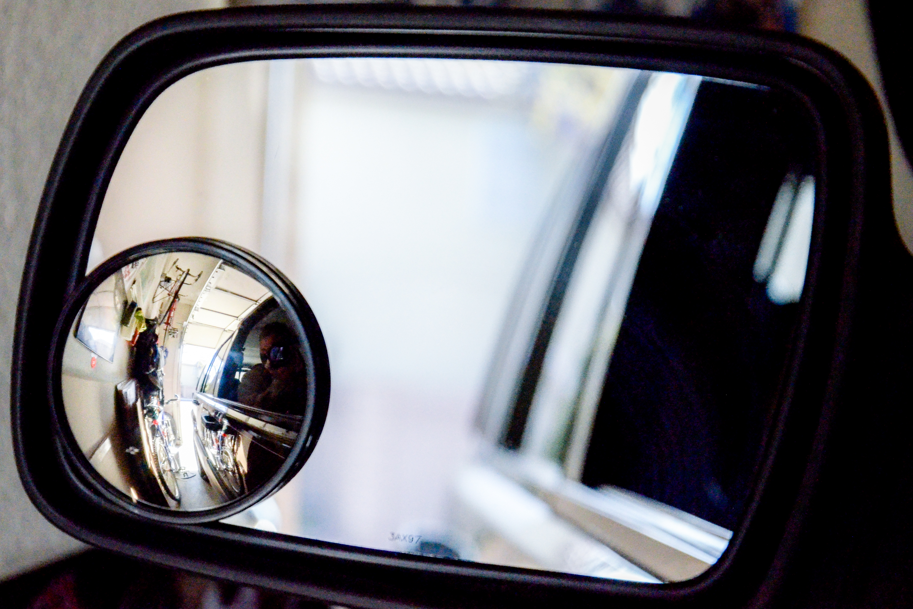 How To Place A Convex Mirror On A Side View Mirror It