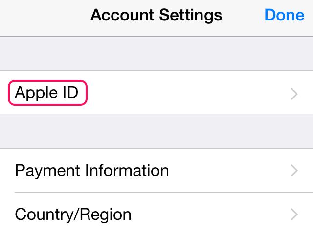 Open Apple ID in the settings.