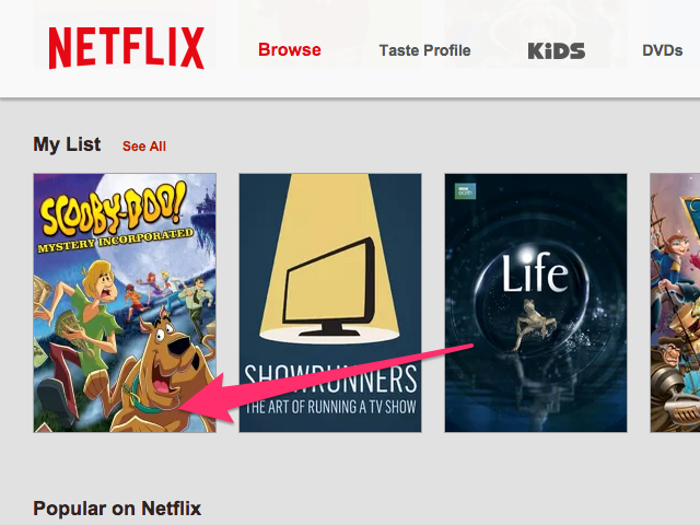 Your movie has now been added to your Netflix list.