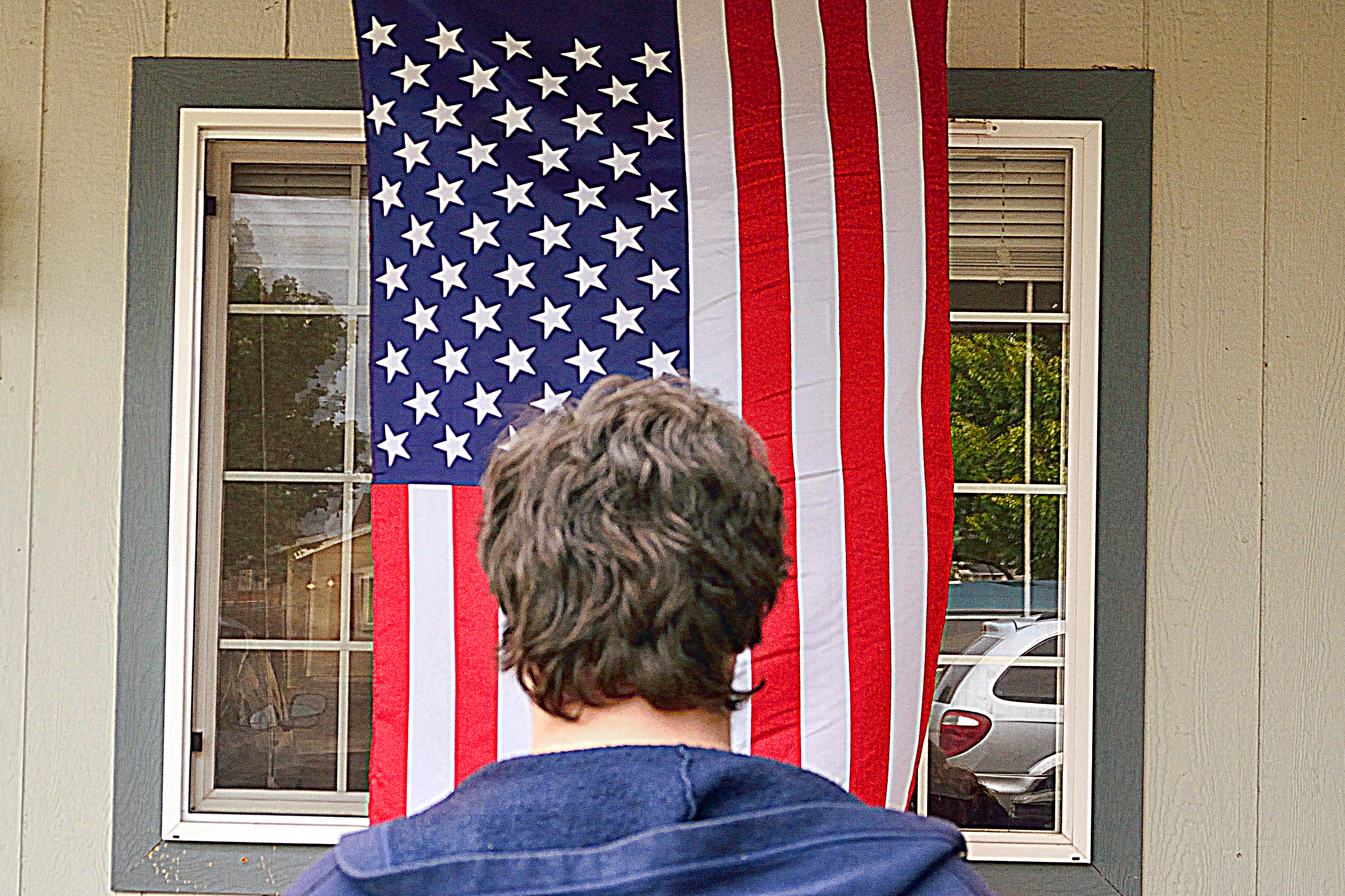 Hang Flag On Wall how to hang an american flag vertically | our everyday life
