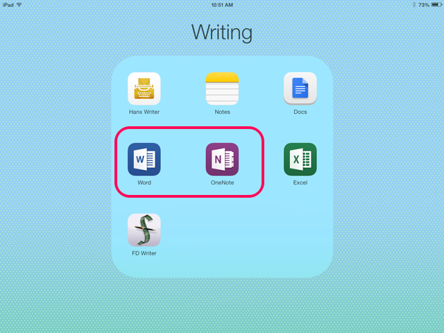 Word and OneNote mobile apps are free to download on smartphones and tablets.