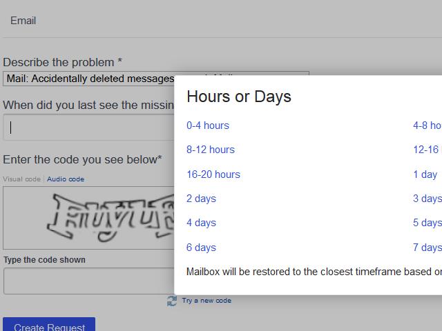 Yahoo restore points
